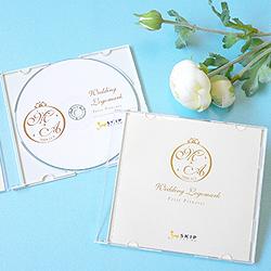 ウェディングロゴで結婚式ムービーのCDケースをデザイン